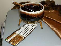 Vintage Pfaltzgraff Casserole/Fondue Set - Gourmet Brown - Brown Drip - USA