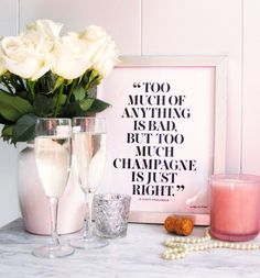 Hey, I found this really awesome Etsy listing at https://www.etsy.com/listing/221759716/too-much-champagne-is-just-right-print