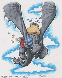 Waterballooning for Fun and Profit by James Silvani Yes, I prefer to draw Toothless as a whole Nightfury. Remember, this is a perfect world where he and Stitch get to hang out. Oh, and they're fictional characters.