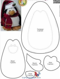 Best Photos of Printable Patterns Felt Penguin - Felt Penguin Pattern, Felt Penguin Pattern and Free Felt Penguin Pattern Christmas Sewing, Christmas Projects, Holiday Crafts, Christmas Crafts, Xmas, Felt Patterns, Stuffed Toys Patterns, Felt Diy, Felt Crafts