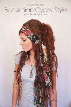 ✨Bohemian Gypsy Style Hair Tutorial! So Pretty!✨ #Beauty #Trusper #Tip