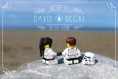 Save the Date - Printable and customisable - Star Wars Lego Save the Date - Quirky - Unique - Personalised - Typography by typo56 on Etsy