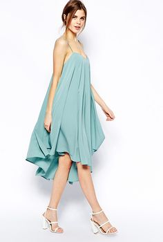 ASOS Cami Swing Dress With Asymmetric Hem, $72.41