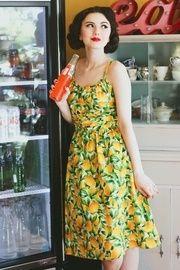 65aaa98e2ecb42 Lemonade Dress - Retrolicious Lemon dress, summer dress, vintage style dress,  50s dress