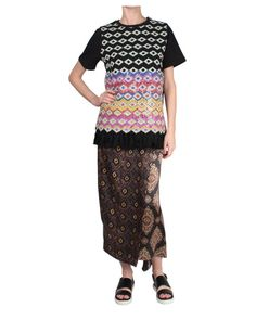 Dries Van Noten Selas Wrap Silk Blend Skirt