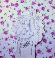 Drawing, illustration by Amylee (Paris) www.amylee-paris.com #flowers