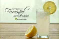 Simple Fermented Lemonade :: Bring that classic summertime drink up a few notches with a big probiotic boost from this simple fermented lemonade! Refreshing *and* nourishing all in one! Kefir Recipes, Fermentation Recipes, Best Probiotic, Summertime Drinks, Fermented Foods, Kombucha, Gut Health, Healthy Drinks, Food Print