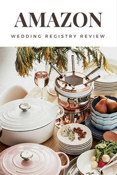 Amazon Wedding Registry Review - The pros and cons of an online wedding registry with a near infinite number of products. #AmazonWeddingRegistryReview