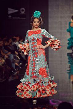 Traje de flamenca. Estampados en rojo. Trajes De Flamenca 2017 dfbd987fb11