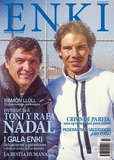 Rafael and Toni Nadal on the cover of Enki magazine (April 2015)