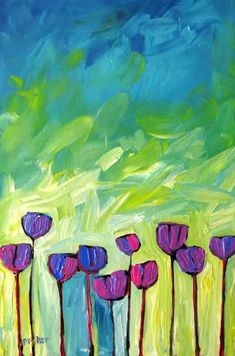 Abstract Poppies III Original x x painting Golden, Liquitex, and Atelier acrylics on gallery-wrapped canvas Utah Sunrise . Abstract Art Painting, Colorful Art, Art Painting, Art Blog, Floral Art, Abstract Painting, Painting, Abstract Poppies, Abstract
