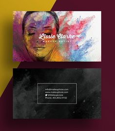 Artist business card graphic available in eps vector format artistic business card design colourmoves
