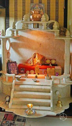 Pooja Room Design, Pooja Rooms, Temple, Room Ideas, Interior, Painting, Indoor, Temples, Painting Art