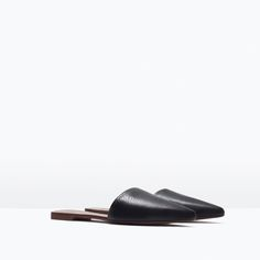 FLAT LEATHER SLIPPERS-Shoes-Woman-SHOES & BAGS | ZARA United Kingdom