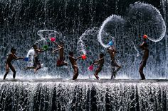 Waterfall Is Our Playground, Kids Of Bali By James Khoo