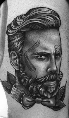 barbershop tattoo - TOP!