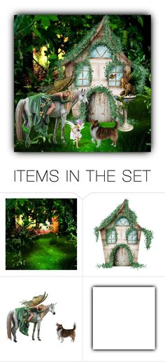 """""""Cottage In The Woods"""" by crochetragrug ❤ liked on Polyvore featuring art"""