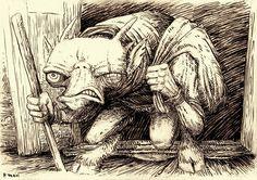 Butz (Buc) - slavic spirit who lives in dark corners, in wardrobes and on attics.