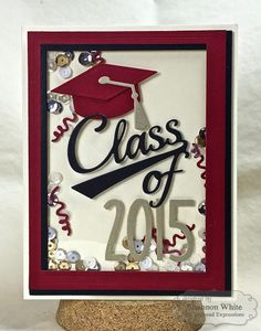 Class Of 2015 Shaker Card by Shannon White