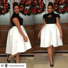 What a great New Years Eve Outfit! #model: @trienadeniese Loving this winter white high-low skirt and feather sleeve sweater from Ashley Stewart. I'm sure I will turn heads tonight! Head to circa88.com for style details #holidayparty #plussize #plus #curvesarein #AshleyStewart #mystylishcurves #styleandcurve #honourmycurves #BeautyBeyondSize #IAmSizeSexy #style #fashion #curvy #silvester #newyearseve @plusmodelmag @nakouture @curvylicious_dk @bustle @buzzfeed @vogue