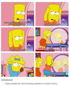Opening up a door that should never have been opened on The Simpsons