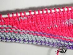 Частичное вязание на спицах без дырочек