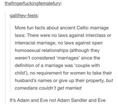 """It's Adam and Eve, not Adam Sandler and Eve"""
