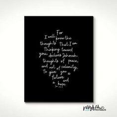 Scripture Based Typography Print Jeremiah by JellyfishPrintables