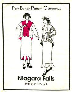 PARK BENCH PATTERN 21 Niagara Falls 2 Piece Suit by PatternPeddler