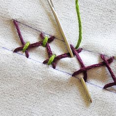 How-To Instructions for nearly any embroidery stitch.  This site will come in very handy!