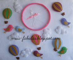 Decorative baby cot cradle crib mobile balloons por MissFabulas