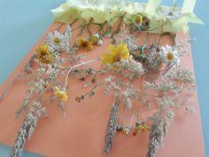 tableau floral estival, bricolage fleurs, fleurs des champs, bricolage enfant, été, printemps