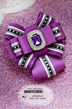 Это УЖЕ снова ШКОЛА УЖЕ??!! :)) - Бантики для девочек - Страна Мам Ribbon Art, Fabric Ribbon, Ribbon Crafts, Ribbon Bows, Fabric Flowers, Ribbons, Diy Clothes Alterations, Fancy Bows, Women Bow Tie