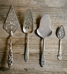 Antique dessert servers