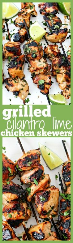 This is the most tender and most flavorful chicken you will ever make! The chicken gets marinated in a honey, lime, cilantro, garlic, and soy sauce marinade for a few hours, skewered, and then grilled. Super duper easy and always a hit! Perfect for serving a crowd.