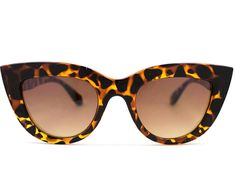 These thick cat eye glasses are perfect for the beach
