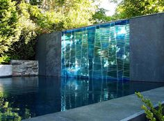 Glass waterfall for the garden?