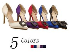 Woman Shoes 5 Color sexy wedding shoes Women's Rhinestone high heels ladies Two piece Casual pumps alishoppbrasil