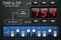 DMX to DIP for iPhone Tap in the DMX address you'd like to set your DMX device to, and DMX to DIP will tell you which switches to flip on your device's DIP. Also works in reverse! Flip the switches to see what the resulting DMX address is. - See more at: http://www.loungelizard.com/mobile-app-development/#sthash.braxvVuF.dpuf