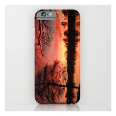 Sunset Lake. © J. Montague. iPhone 6s Case ($35) ❤ liked on Polyvore featuring accessories, tech accessories and iphone & ipod cases