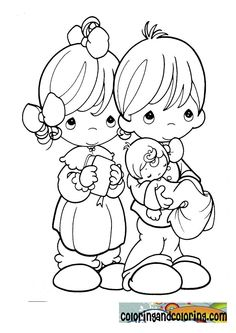 parents of precious moments coloring sheets | Coloring and ...