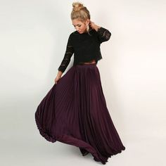 Мода Горячая Фиолетовый Юбки для женщин для Для женщин к официальная Вечеринка пол Длина складки Длинные Юбки для женщин модные ботинки на молнии Стиль индивидуальный заказ купить на AliExpress