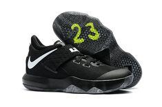 b1e34b4c87e6 Mens Original Nike LeBron Ambassador 10 Core Black White Cheap Nike