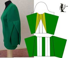 Pattern Cutting, Pattern Making, Dress Sewing Patterns, Clothing Patterns, Sewing Blouses, Pattern Drafting, Diy Clothing, Fashion Sewing, Sleeve Designs
