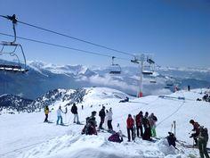 magnifique journée pour aller au ski!