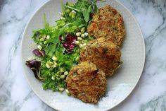 RECEPT: Pohankové karbanátky s chia semínky Lunch Recipes, Vegetarian Recipes, Healthy Recipes, Healthy Food, Ham, Healthy Life, Food And Drink, Gluten Free, Chicken