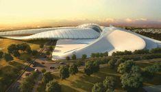 Elk Grove Civic Center by Zaha Hadid Architects [Zaha Hadid: http://futuristicnews.com/tag/zaha-hadid/]