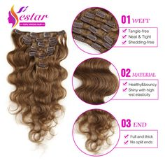 7A Unprocessed Body Wave Human Hair Clip In Extensions 10pcs/set Full Head 120g Indian Virgin Hair Clip In Human Hair Extension
