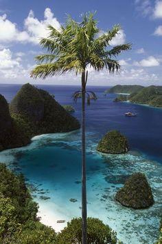Places to visit dream destination Wayag Islands, Papua, Indonesia