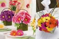 daisy flower arrangement centerpieces | Gerbera Daisy Centerpieces